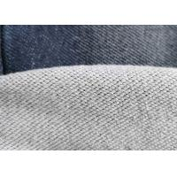 Premium Cotton Blended Knitted Denim Fabric Double Layer French Terry Indigo Manufactures