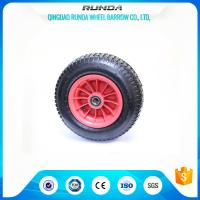 4 Ply Rating Pneumatic Rubber Wheels 16inches Size Plastic Rim 170KG Loading Manufactures