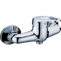 Wall Mounted Chrome Two Hole Bathroom Faucet Shower Mixer Taps with Single Lever Manufactures