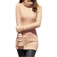 Slim Fit Turtleneck Fashion Pullover Sweaters Cable Knit Jumper Womens Manufactures