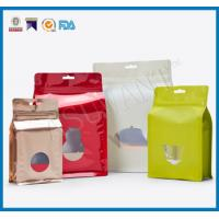 Custom Laminated Coffee Packaging Bags , Stand Up Pouches FDA Approved With Window Manufactures