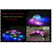 Green 40.55 Inches Length 8th Generation Glow Led Light Shoelaces Hip Hop For Nightclub Manufactures