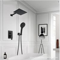 Black Painted Shower Wall Faucet Stainless Steel Material Great Deforming Resistance Manufactures