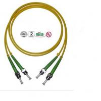 2 Core ST Fiber Optic Cable , PVC LSZH Cable For Data Transmission Manufactures