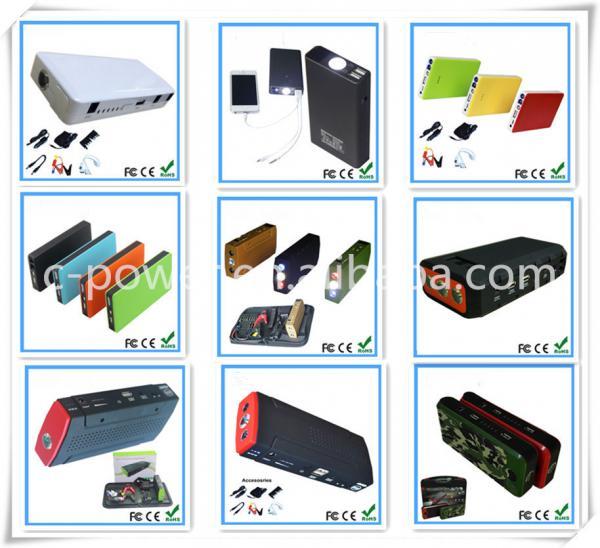 12V/24V high capacity 8000mah emergency tools Fit Smart Phone Pad mini Multi-Function portable carJump Starter