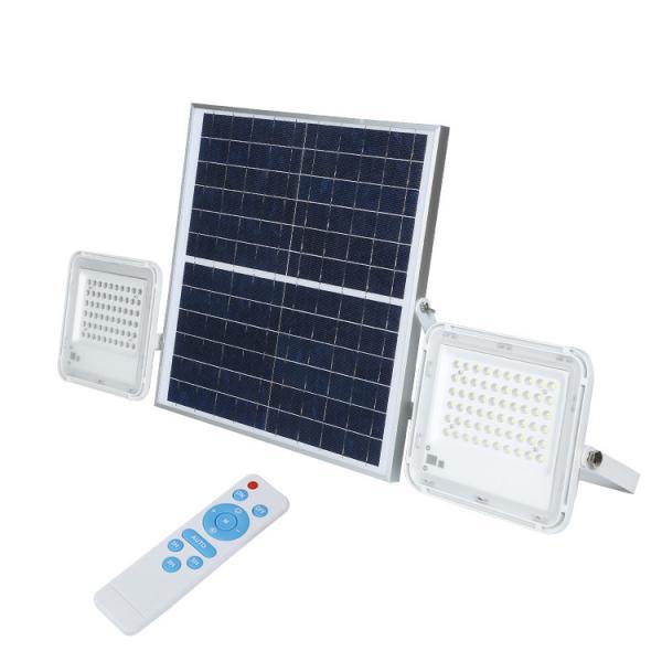 Quality Garden Remote Control Solar Powered Flood Lights 40w 60w 100w LiFePO4 Battery for sale