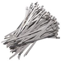 China 300 x 7.9mm Stainless Steel Roller Ball Cable Ties Pack of 50 on sale