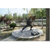 China Bronze Tai Chi Kung Fu man Sculpture For City Decoration on sale