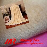 Quality 100% polyester super soft velboa fabric for blanket for sale