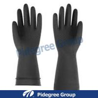 Nature Latex Industrial Gloves Durable With Flock-Lined / Non-Lined Manufactures