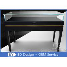 Buy cheap Simple Modern Wood Black Museum Pedestal Display Case With Lock from wholesalers