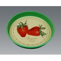 Customized Gavanlized Tinplate Round Tin Tray With Printing Manufactures