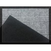 Big Black White Tartan Double Faced Wool Coating Fabric 750g/m Manufactures