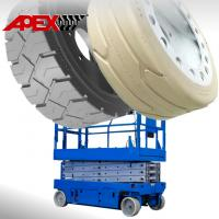 China APEX Mould On Tire for Scissor Lift, Sweepers, Floor Cleaner, Road Paver, Shield Hauler on sale