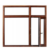 China High Performance Aluminium Sliding Windows With Grill Wood Grain Finish on sale