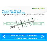 Aluminum Alloy Digital TV Antenna / Digital Analog Antenna Constructed With 2-16 Elements Manufactures