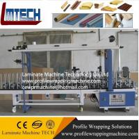 China Laminate Flooring Skirting Board Trim Profiles wrapping machine on sale