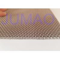 Square Plain Weave Stainless Steel Wire Mesh Sintered With Large Flow Manufactures