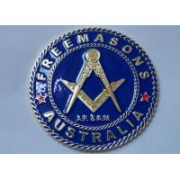Gold Plating Iron or Brass or Copper A.F. & A.M. Adhesive Badge Manufactures