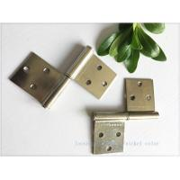 Nickel Plated Kitchen Cabinet Hinges Bright Color Folding Function Furniture Hardware Manufactures