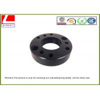 Quality Machined Turned Parts Aluminium CNC turning base with black anodization for sale