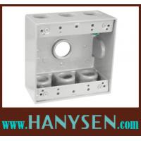 China Waterproof Double Gang electrical box size 1/2'' 3/4'' 1'' on sale