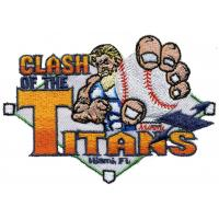 Custom embroidery digitizing CLASH of the Titans Blending color baseball WEI9C01 Manufactures