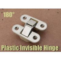 180 Degree Plastic / Zinc Alloy  / Nickle Plated Inset Door Hinges White Nylon Hinge Manufactures