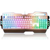 Custom LED PC Gaming Keyboard Alumium Alloy Plate With ABS Plastic Base Manufactures
