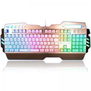 USB 2.0 Rainbow LED Backlight Illuminated Gaming Keyboard Blue Switches 104 Keys Manufactures