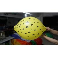 Quality Durable Yellow 90cm Lemon Shaped Balloons With Digital Printing for sale