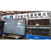 China High Speed Vertical Glass Washing Machine , Mechanical Glass Washer Easy Operation on sale