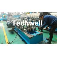 Hat Channel Cold Roll Forming Machine With Hydraulic Cutting Type & PLC Frequency Control Manufactures