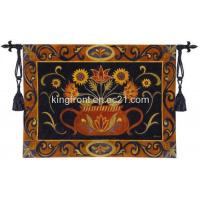 China Potted Folk Floral Tapestry on sale