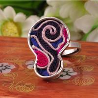 Quality lastest design custom ethnic jewelry embroidery hmong rings with adjustable size for sale