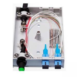 4 FO Outdoor Fiber Optic Junction Box , SC Simplex LC Duplex Adapters Fiber Access Terminal Box Manufactures