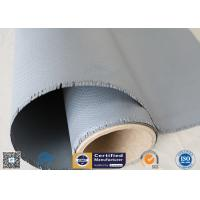 China Gray Color Silicone Rubber Coated Fiberglass Fabric 260℃ Satin Weave 1m Wide on sale