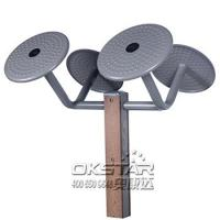 China outdoor wooden fitness equipment--WPC Outdoor Gym Tai Chi Wheel, Arm wheel Equipment, commercial gym equipment on sale