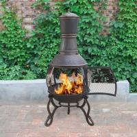 Charcoal And Wood Cast Iron Garden Chimney Antique Cast Iron Fireplace Corrosion Resistance Manufactures