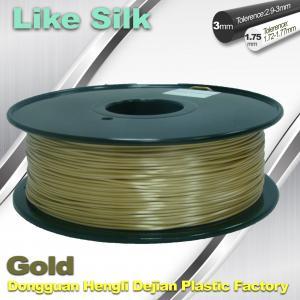 Polymer Composites 3D Printer Filament , 1.75mm / 3.0mm , Gold Colors. Like Silk Filament Manufactures
