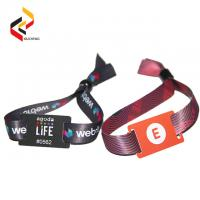 Waterproof 13.56MHz NFC NTAG213 bracelet RFID fabric wristbands Manufactures