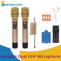 2 Pieces Pair Wireless Handheld KTV Singing Microphone for Voice Amplification Presentation UHF Transmitter and Receiver Manufactures