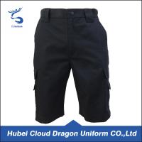 Windproof Security Guard Pants Dark Navy Ripstop Short Duty And Daily Life Use Manufactures