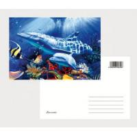 2021 Souvenir scenery Plastic lenticular 3D printing postcard with 3D flip effect post card printed by UV printer Manufactures