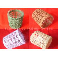 100% Cotton Crochet Mug Covers Colorful Embossed Knitted Coffee Cup Sleeve Manufactures