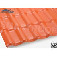 China Terracotta PVC Resin Roofing Materials Waterproof Environmental Friendly on sale