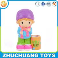 Lovely cartoon girl kids plastic wholesale piggy banks for Plastic piggy banks for kids