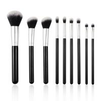 Customized Full Makeup Brush Set Synthetic Hair Material Flat Brush Shape Manufactures