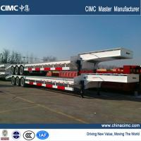 tri-axle 40 footer low bed trailer with 40 tons load capacity Manufactures