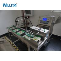 High speed food Package Plastic bags pagination machine for date code inkjet printer Manufactures